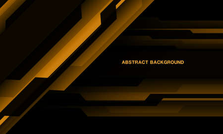 Abstract Yellow black cyber geometric with blank space design modern technology futuristic background vector illustration.