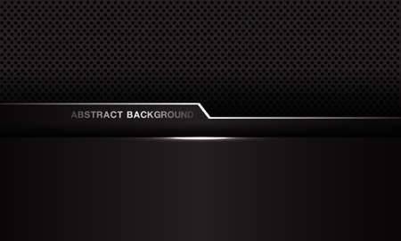 Abstract dark grey metallic silver line geometric cyber on circle mesh design modern luxury futuristic background vector illustration. Standard-Bild - 156446442