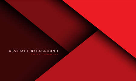 Abstract red tone overlap layer with simple text on blank space design modern futuristic background vector illustration.