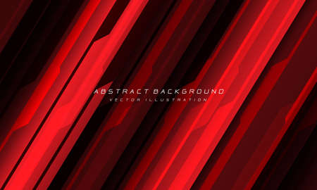Abstract red black cyber geometric line with blank space and text design modern futuristic background vector illustration. Illustration