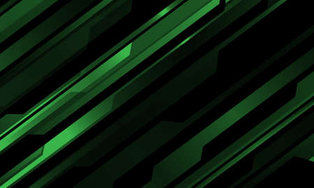 Abstract green metallic cyber pattern on black design modern technology futuristic background vector illustration.