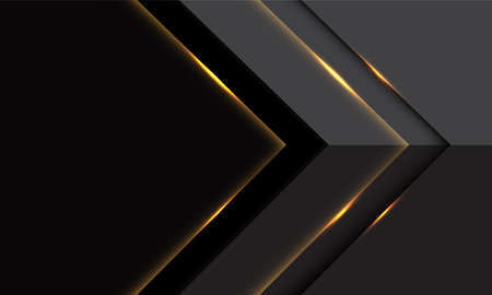 Abstract grey gold light arrow direction with blank space design modern luxury futuristic background vector illustration.