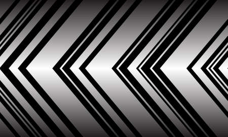 Abstract silver black arrow pattern direction seamless background vector illustration.