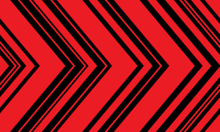Abstract red black arrow pattern direction seamless background vector illustration. 矢量图像