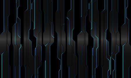 Abstract blue light circuit on grey metallic black geometric cyber design modern technology futuristic background vector illustration.