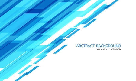 Abstract blue geometric speed technology on white with blank space and text design modern futuristic background vector illustration.  イラスト・ベクター素材