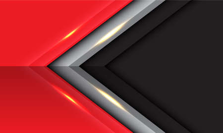 Abstract black grey red arrow direction design modern futuristic background vector illustration.  イラスト・ベクター素材