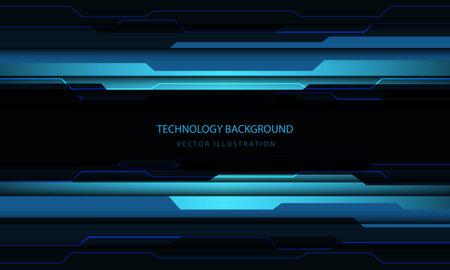 Abstract technology cyber circuit blue black metallic light power energy design modern futuristic background vector illustration.  イラスト・ベクター素材