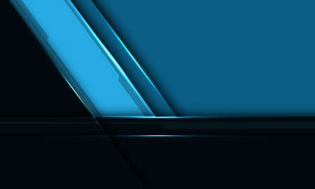 Abstract blue black metallic slash overlap with blank space design modern futuristic background vector illustration.