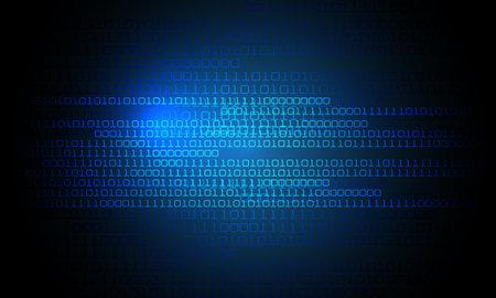 Technology blue number digital computer screen monitor background vector illustration. Stock Illustratie