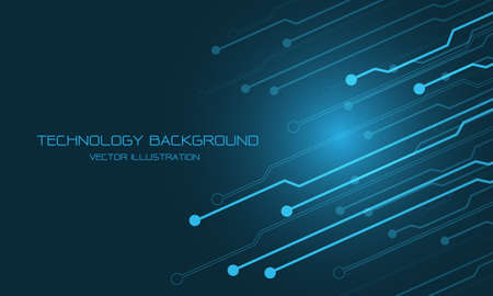 Abstract blue technology cyber circuit futuristic with blank space for text design modern vector background illustration. Stock Illustratie