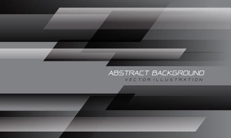 Abstract grey black speed geometric technology design modern futuristic background vector illustration. Stock Illustratie