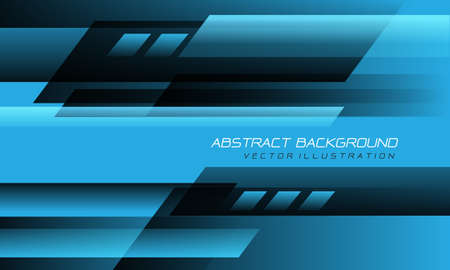 Abstract blue black speed geometric technology design modern futuristic background vector illustration. Stock Illustratie