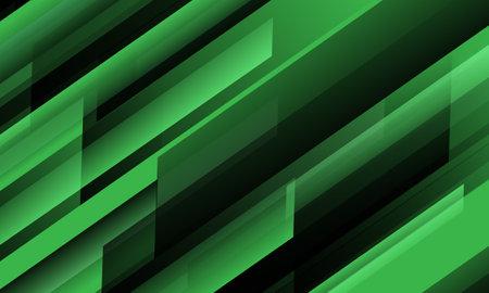 Abstract green black speed geometric slash technology design modern futuristic background vector illustration.
