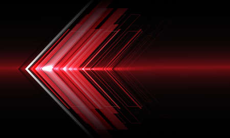 Abstract red arrow light direction speed on black technology futuristic design modern background vector illustration.