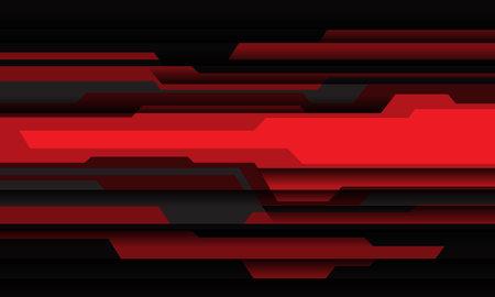 Abstract red grey black cyber geometric design modern futuristic technology background vector illustration. 矢量图像