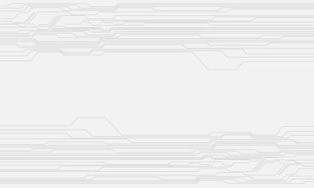 Abstract grey circuit line cyber pattern on white with blank space technology futuristic background vector illustration.