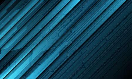 Abstract blue technology cyber circuit line shadow slash design modern futuristic background vector illustration.