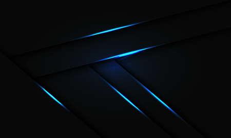 Abstract blue light line shadow overlap on black design modern futuristic technology background vector illustration.