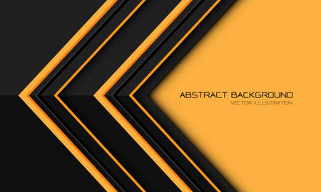 Abstract yellow grey metallic arrow direction geometric with blank space design modern futuristic background vector illustration.