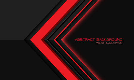 Abstract red grey metallic  directional geometric arrow with blank space design modern futuristic background vector illustration. 矢量图像