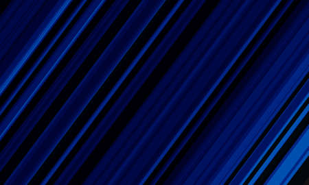 Abstract blue line speed dynamic on black background vector illustration.