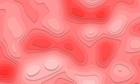 Abstract red tone paper cut layers overlap art background texture vector illustration.