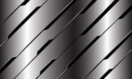 Abstract silver black line circuit cyber geometric slash design modern luxury futuristic technology background vector illustration. Иллюстрация