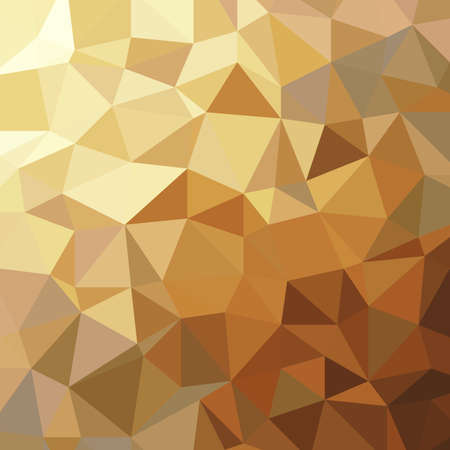 Abstract golden triangle low polygon geometric luxury background vector illustration.