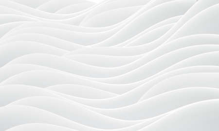 Abstract white wave curve overlap background vector illustration.