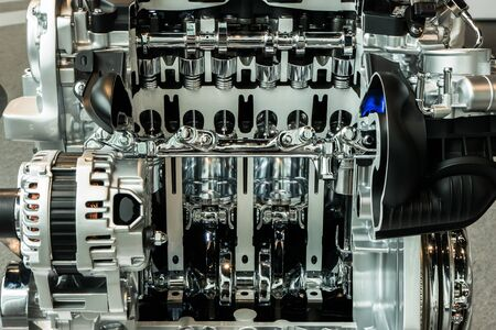 Cutting view of engine and transmission of automobile