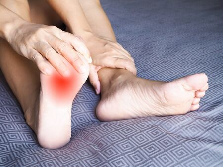 Foot pain and ankle pain and sore soles From bones, muscles, and inflammation of tendons from disease