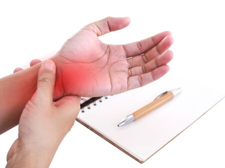 Nerve inflammation in wrist pain or disease of nerves in wrist or symptoms of osteoporosis