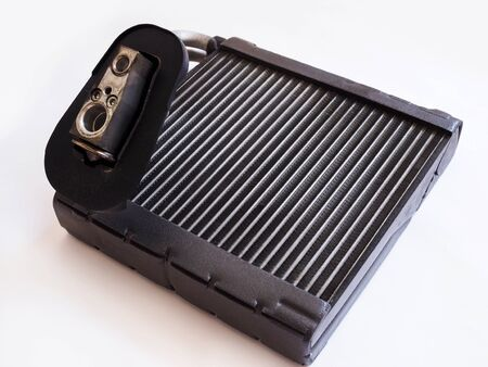 Evaporator, Cooling Condenser coil in car. air filter conditioning automobile system have leakage problems. isolated on white background.