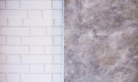 White brick wall blocks and loft backgrounds.