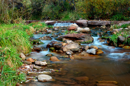 Tonto Creek located in Payson Arizona 免版税图像