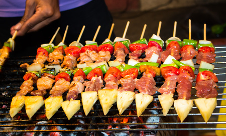 Delicious colourful barbecue Stock Photo