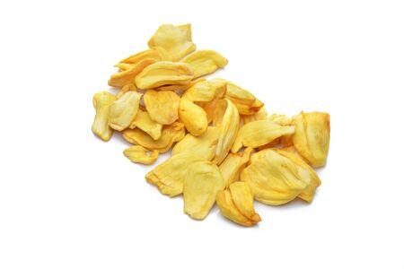 Jackfruit chip on white background Stock Photo