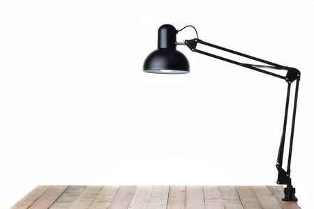 Clip lamp on white background