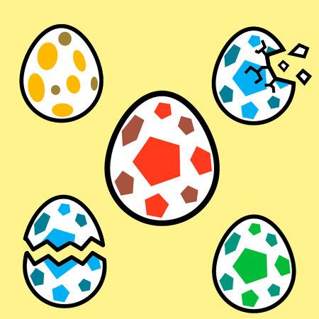 dinosaur egg: Dinosaur colorful egg