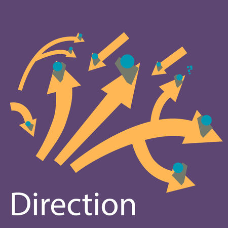 dealing: Direction way Illustration