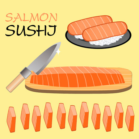 Cute Salmon sushi