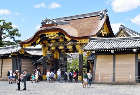 The ornate, inner gate (Kara-mon Gate) of Nijo Castle, Kyoto, Japan Editorial