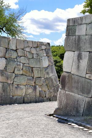 Castle walls, Nijo Castle, Kyoto, Japan Editorial
