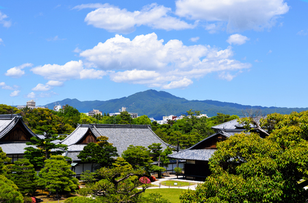 Honmaru Palace with Mount Hiei in the background, Nijo Castle, Kyoto, Japan Editorial