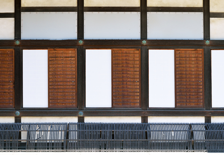 Sliding doors of Ninomaru Palace, Nijo Castle, Kyoto, Japan