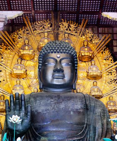 The great Buddha at Todaiji Temple, Nara, Japan (front)
