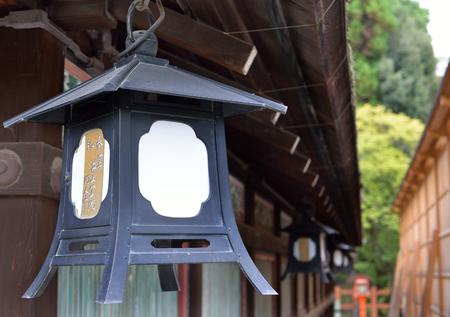 Metal lantern, Yasaka Jinja, Kyoto, Japan Banco de Imagens