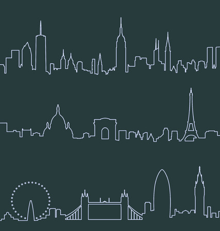 New York, Paris and London Profile Lines