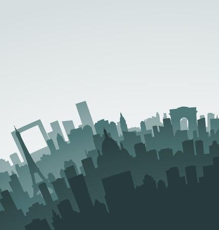 paris skyline: Paris Skyline Landmarks